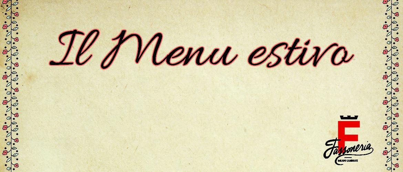 il menu estivo